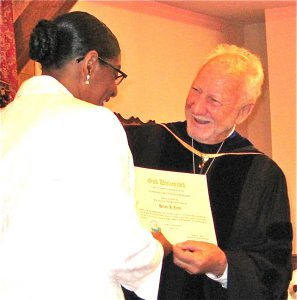 Dr Beierle ordaining Helen John